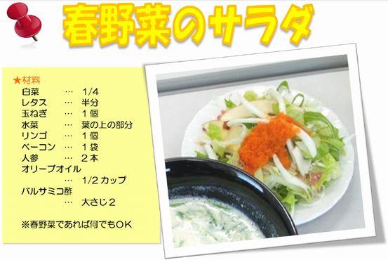 春野菜のサラダ